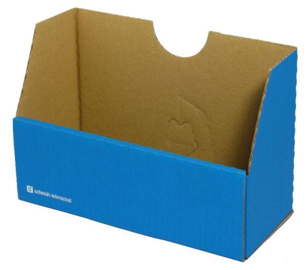 Falt-Karteibox DIN A4/A5 - blau