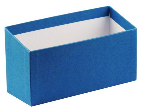 Karteibox A6 quer - blau