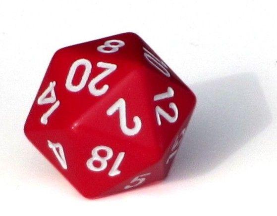 Ziffernwürfel 1-20 - rot
