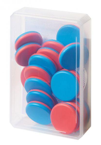 Wendeplättchen Schülerdose - blau/rot (20Stk)