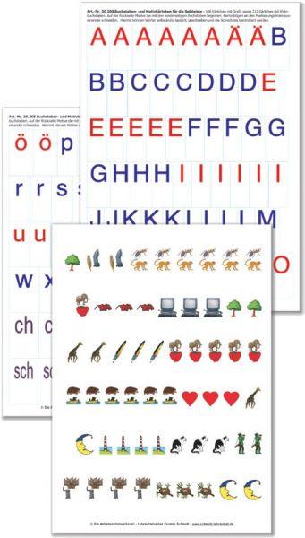 Buchstaben- und Motivkärtchen