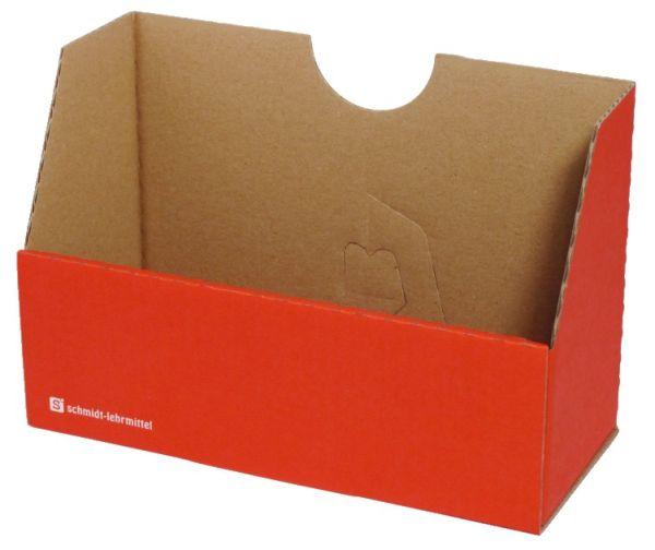 Falt-Karteibox DIN A4/A5 - rot