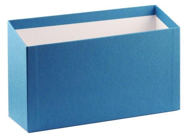 Karteibox A5 quer - blau