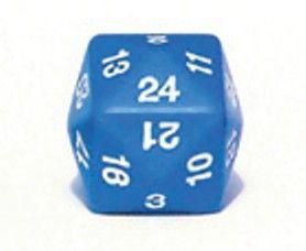 Ziffernwürfel 1-24 - blau