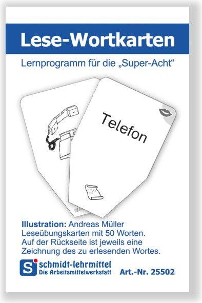 Lese-Wortkarten (Super-8)