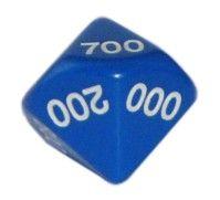 Ziffernwürfel 000-900 - blau