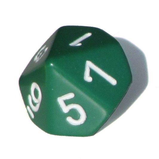Ziffernwürfel 1-10 - grün