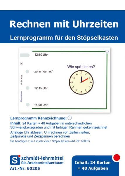 'Uhrzeiten' für den Stöpselkasten