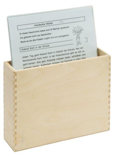 Kombiangebot: 'Versteckte Wörter' + Box