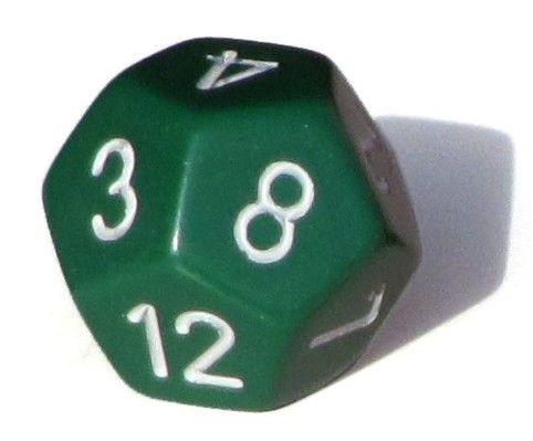 Ziffernwürfel 1-12 - grün