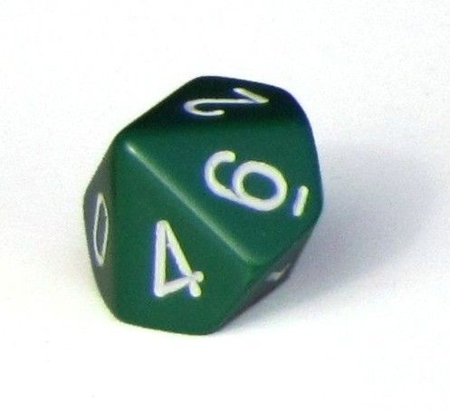 Ziffernwürfel 0-9 - grün