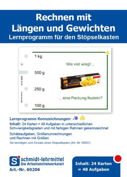 'Längen und Gewichte' für den Stöpselkasten