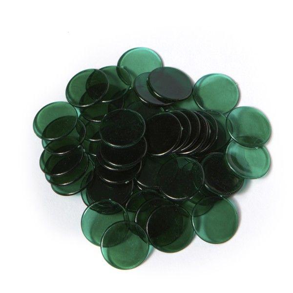 Spielmarken 2cm (100Stk) - grün transp.