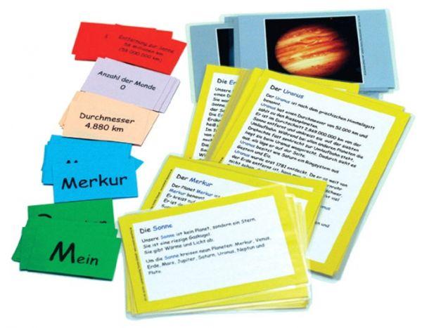 Planeten: Text-, Informations- und Bildkarten