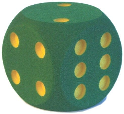 großer Schaumstoffwürfel - Augen, grün