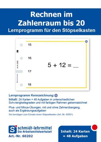 Rechnen +, - bis 20 (Stöpselk.)