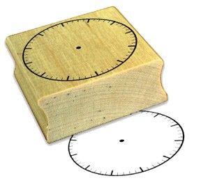 Uhrenstempel mit Minuteneinteilung