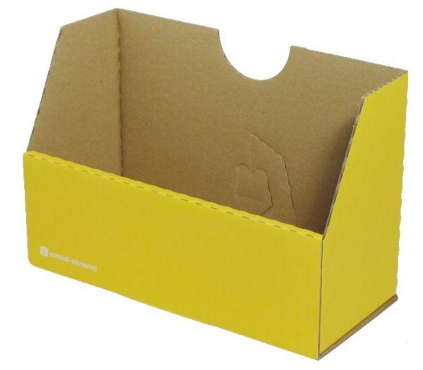 Falt-Karteibox DIN A4/A5 - gelb