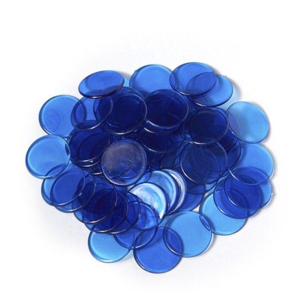 Spielmarken 2cm (100Stk) - blau transp.