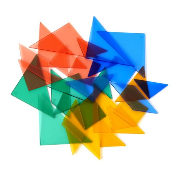 Tangram transparent, 4er Set