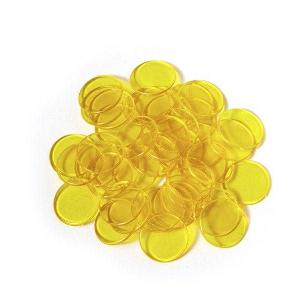 Spielmarken 2cm (100Stk) - gelb transp.