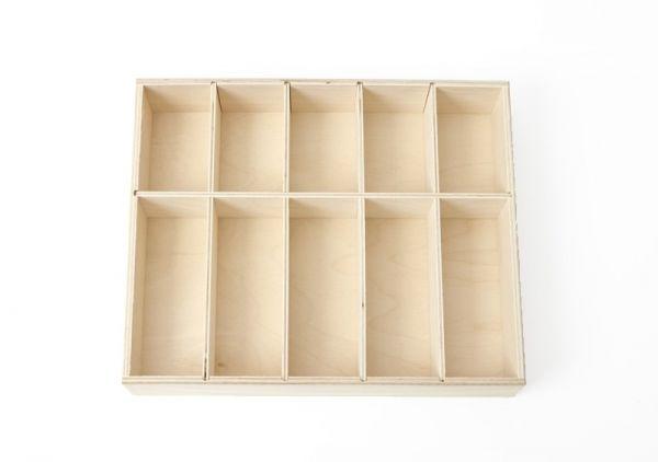 Ordnungskasten für Montessori-Perlenstangen