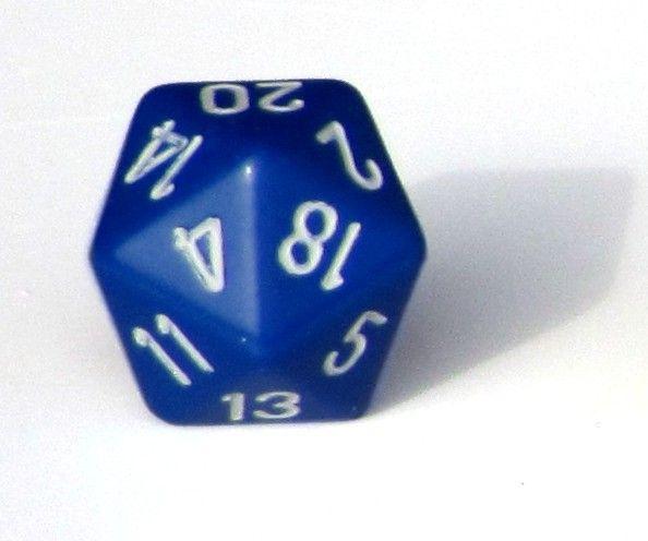 Ziffernwürfel 1-20 - blau