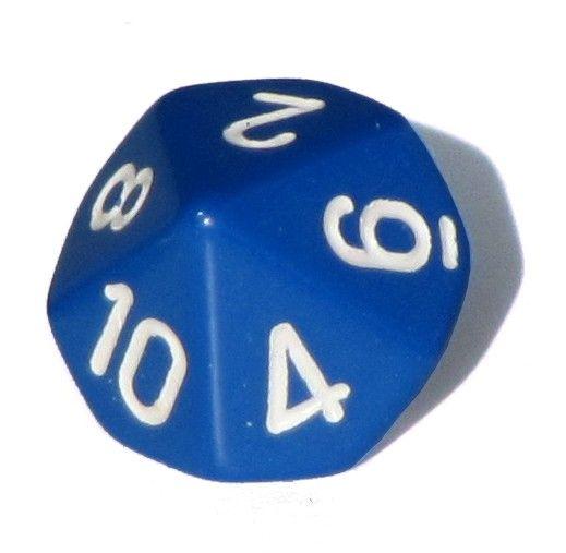 Ziffernwürfel 1-10 - blau