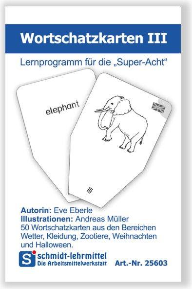 Wortschatzkarten Frühenglisch III (Super-8)