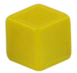 Blankowürfel 19mm gelb