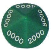 Ziffernwürfel 0000-9000 - grün