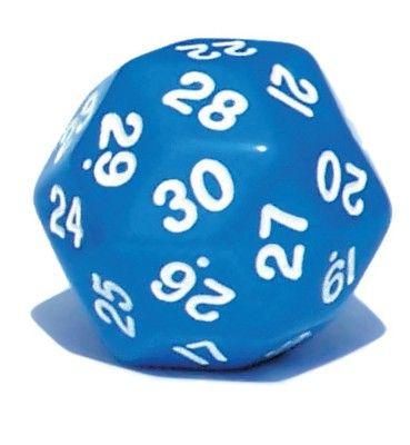 Ziffernwürfel 1-30 - blau