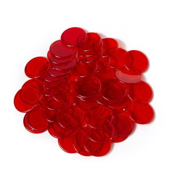 Spielmarken 2cm (100Stk) - rot transp.