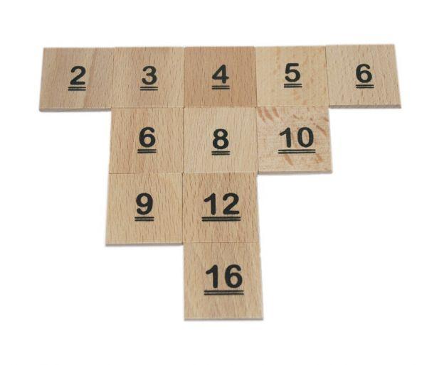 1x1 Zahlenchips (100Stk)