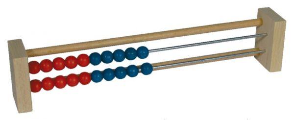 Rechenrahmen 20er blau/rot