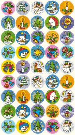 Belobigungs-Sticker - Weihnachten II