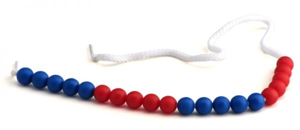 Rechenketten 20 blau/rot (5-er Schritte)