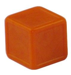 Blankowürfel 19mm orange
