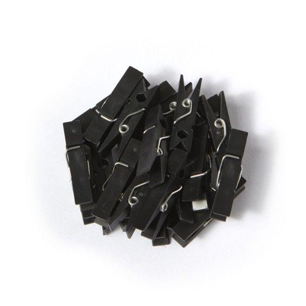 Kunststoffklammern - schwarz  (100Stk)