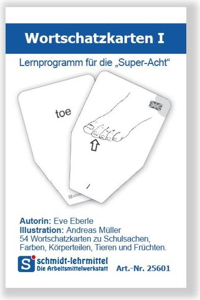 Wortschatzkarten Frühenglisch I (Super-8)