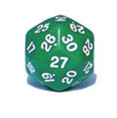 Ziffernwürfel 1-30 - grün