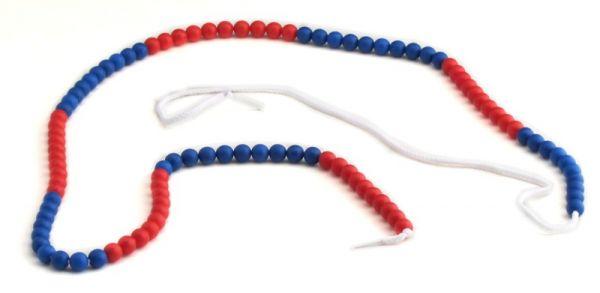 Rechenketten 100 blau/rot (10-er Schritte)