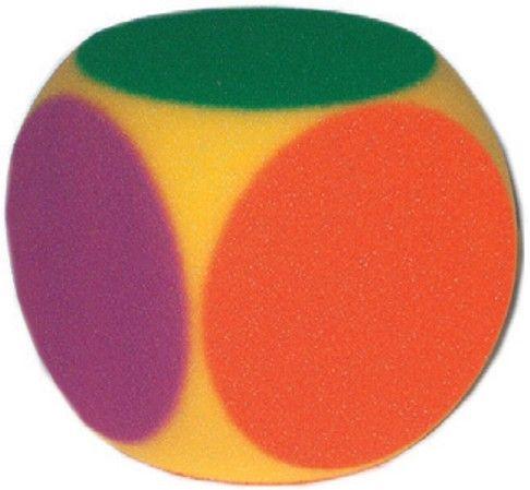 großer Schaumstoffwürfel - Farbpunkte