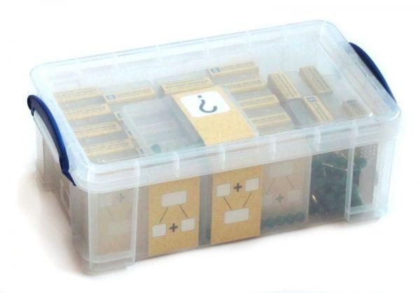 Klassensatz Schüttelbox - grün + Stapelbox