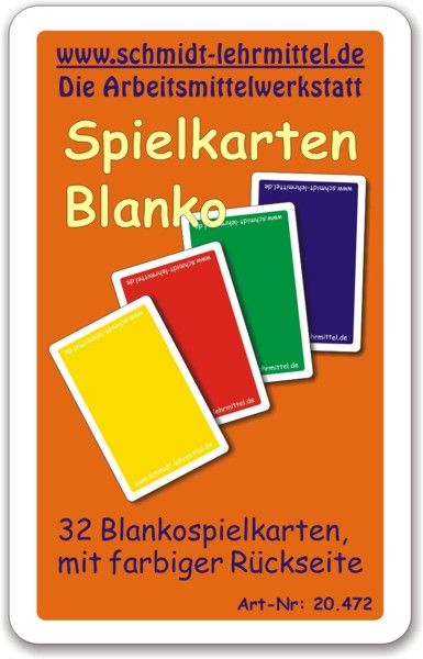Spielkarten - farbige Rückseite (32Stk)