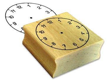 Uhrenstempel mit Zahlen 1 - 12
