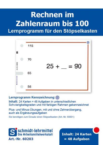 Rechnen +, - bis 100 (Stöpselk.)