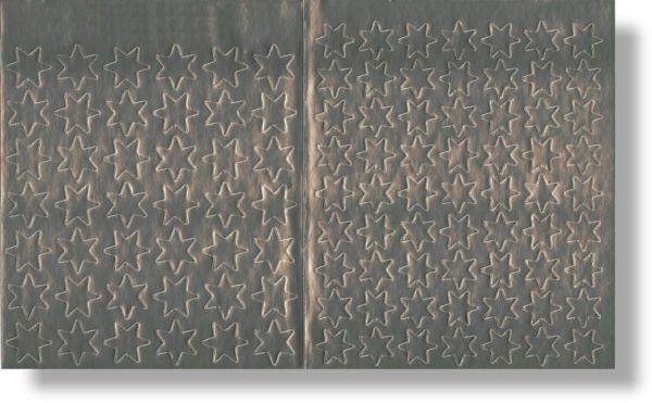 Lob-Sticker - Silberne Sterne