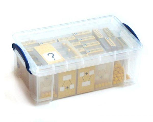 Klassensatz Schüttelbox - gelb + Stapelbox