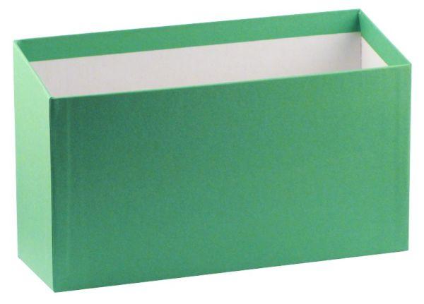 Karteibox A5 quer - grün